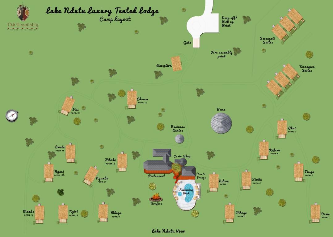 Location Map  U2013 Lake Ndutu Luxury Tented Lodge